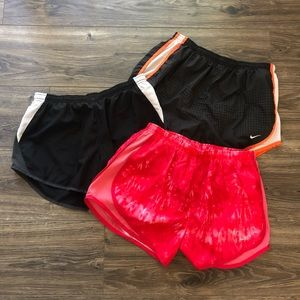 Nike Dri Fit Running Shorts Bundle of 3 Medium